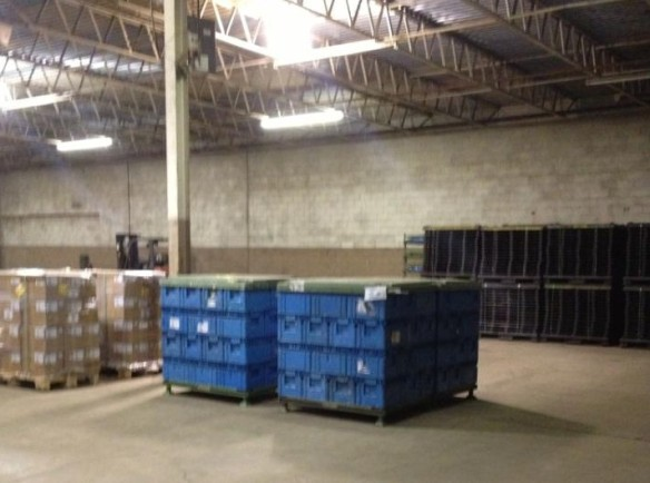 First shipment received and stored at our new Hill Ave. location.